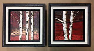 Painted Trees Diptych